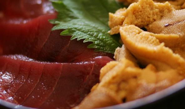 大間でたべたマグロ丼(青森県大間町)