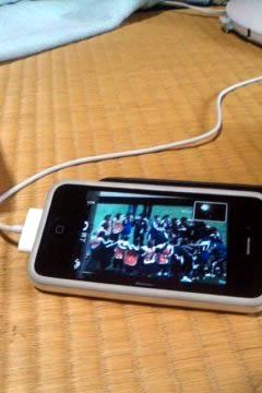 薬研温泉郷にて、iPhone越しに観たなでしこジャパンの活躍