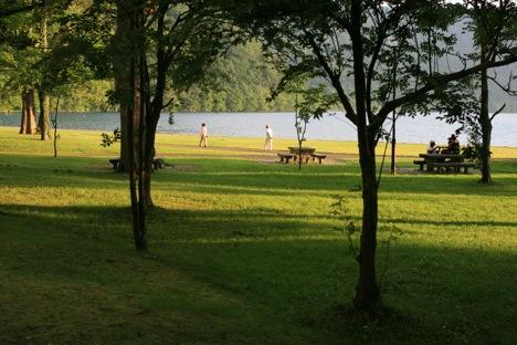 十和田湖レークビューホテル前の眺め。
