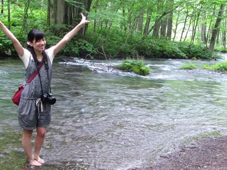 奥入瀬渓流でテンションが上がるわたし