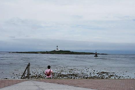 あの島の向こうに見えてるのが、北海道