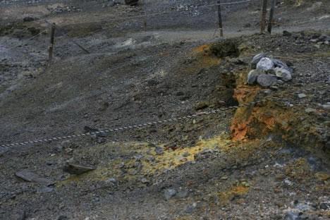 恐山: ガス噴出口