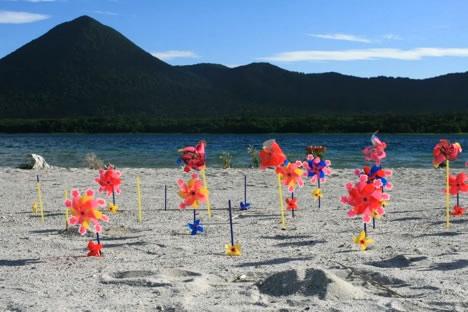 恐山/宇曽利山湖: 廻る廻る