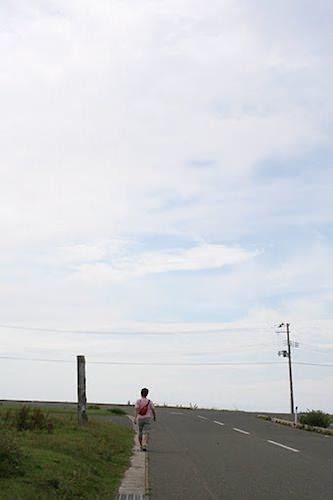 尻屋崎はあんまり人がいないから、こんな写真も撮れる