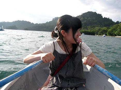 ボートこぐわたし @十和田湖