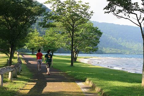 十和田湖の朝さんぽ