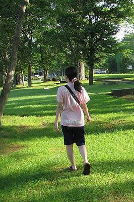 十和田湖早朝さんぽするわたし