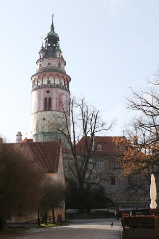クルムロフ城の塔