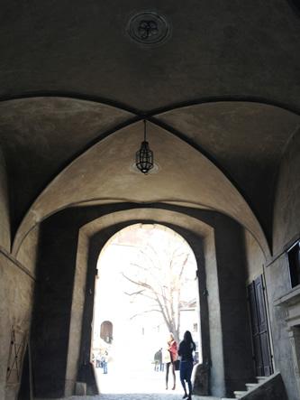 クルムロフ城の入り口