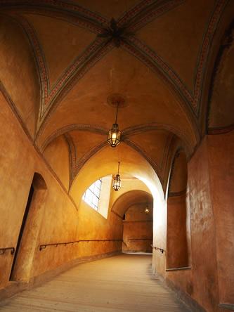 クルムロフ城の廊下