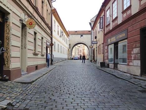 チェスキークルムロフの町のはじっこ