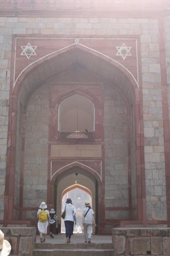 フマユーン廟ふたつ目の門アップ