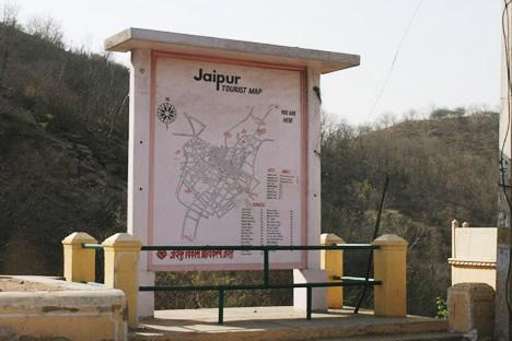 ピンクシティ、ジャイプルのピンクな地図