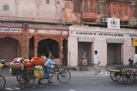 インドのピンクシティ、ジャイプルの街並み