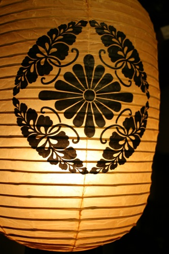 妙心寺東林院の紋入り提灯