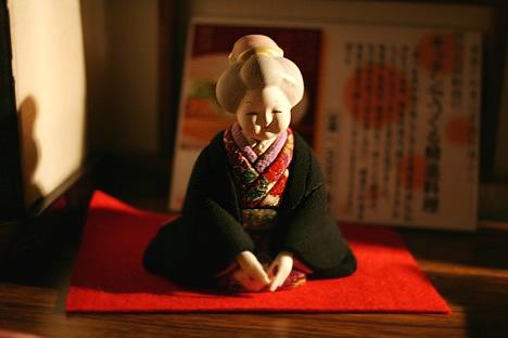 妙心寺東林院で出迎えてくれた人形