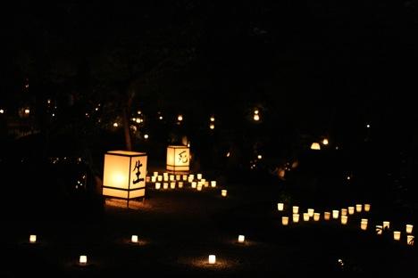 妙心寺東林院の梵燈のあかりに親しむ会、縁側からの景色
