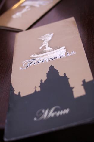 イムディーナの有名カフェ、Fontanella Tea Gardenのメニュー