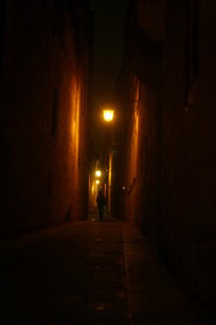 夜のイムディーナ小径