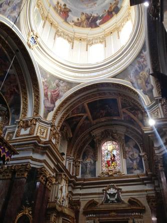 イムディーナ・聖パウロ聖堂の内部、ドームの内側