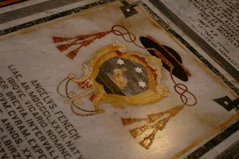 イムディーナ・聖パウロ聖堂の床にあったうさぎの紋章