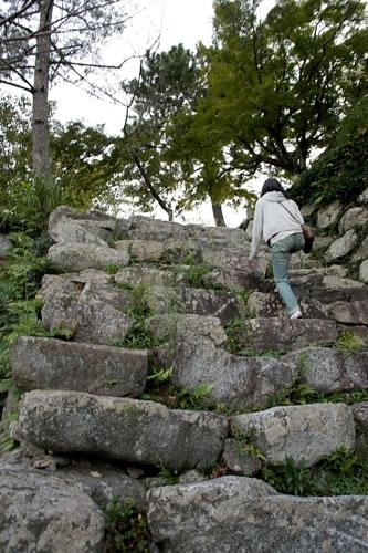 松坂城の石垣・石段