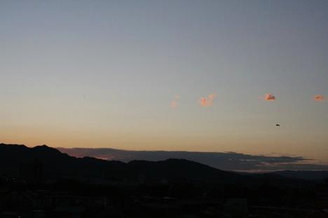 松坂城から見た夕暮れの景色