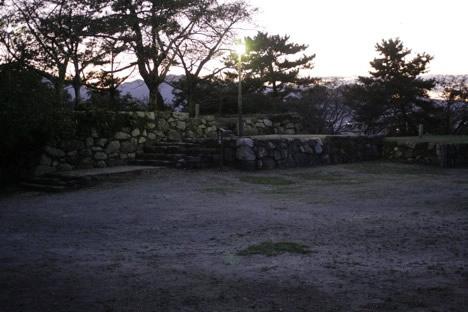 松坂城本丸跡かな?