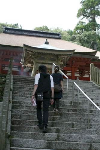 朝熊山金剛證寺・庭園奥の階段を上る