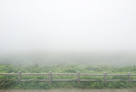 蔵王御釜(濃霧で何も見えない)