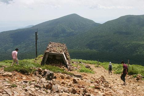宮城蔵王刈田岳山頂にあった謎の建物
