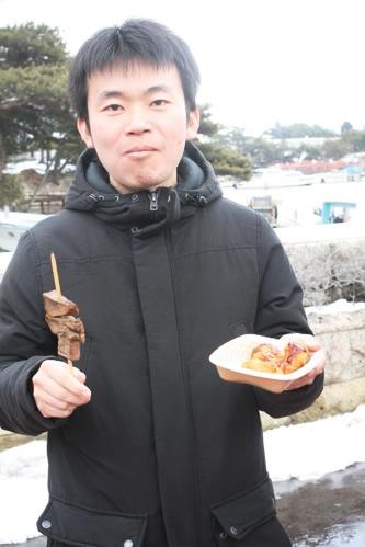 牡蠣フライと牛たん串